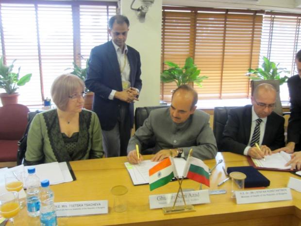 България и Индия ще си сътрудничат в здравеопазването