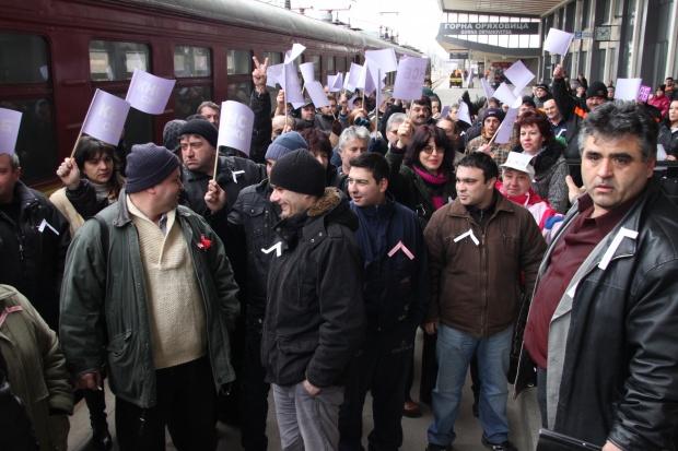 Стачка в БДЖ блокира страната