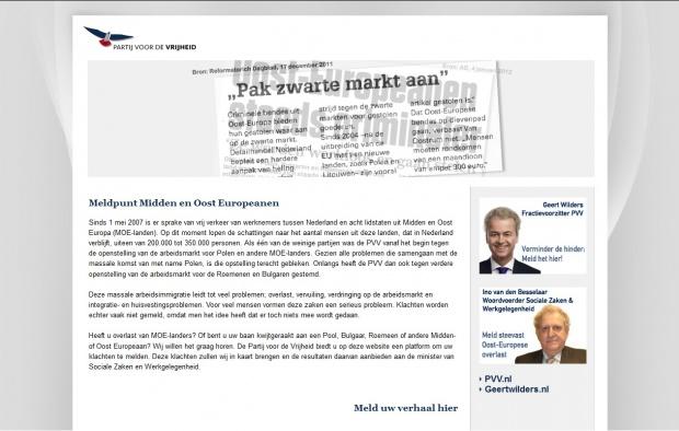 Посланици протестират срещу сайта на Вилдерс