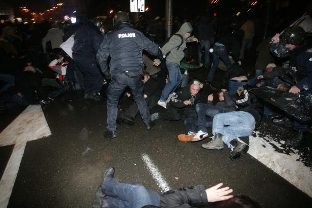 Няма тежко пострадали при протеста
