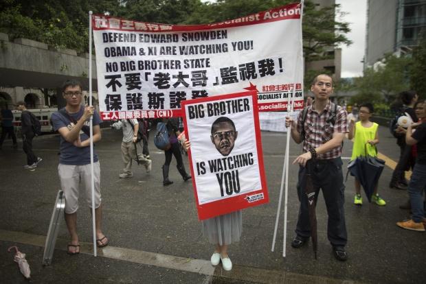 Демонстрации в подкрепа на Едуард Сноудън в Хонгконг