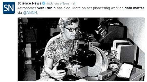 Астрономката Вера Рубин си отиде на 88-годишна възраст