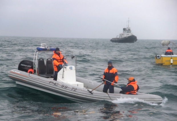 Край Сочи откриха части от телата на пасажери на падналия Ту-154