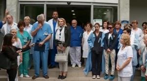 Протест на граждани срещу насилието над лекари. Поводът е нападението