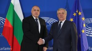 Министър-председателят Бойко Борисов и председателят на Европейския парламент Антонио Таяни