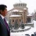 Японският премиер показа снежна София в профила си в Twitter