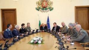 Премиерът Борисов се срещна с министъра на отбраната Красимир Каракачанов