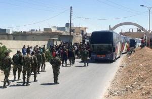 Започна евакуация на бунтовници от общини, разположени североизточно от Дамаск