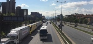 "Превозвачите протестират с камиони и автобуси на ""Цариградско шосе"""