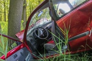 Млад шофьор е бил застигнат и изтласкан от шосето от