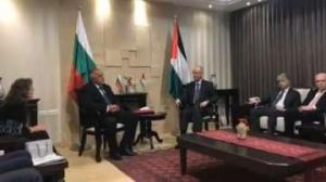 Бойко Борисов се срещна с премиера на Палестина