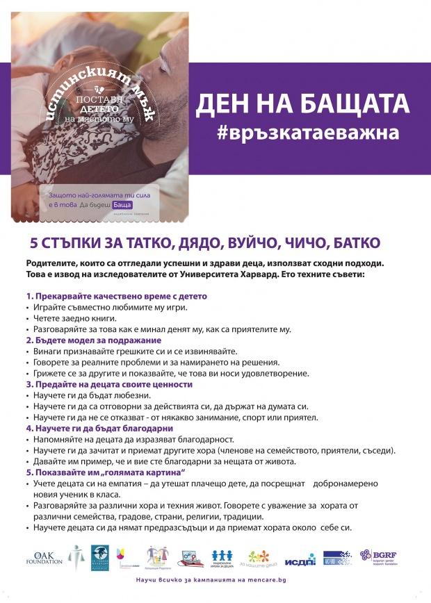 Организират ден на бащата 2018 до паметника на Радичков в София