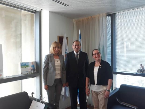 Фандъкова договори сътрудничества между София и Тел Авив
