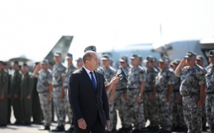 Президентът и върховен главнокомандващ Въоръжените сили Румен Радев бе гост