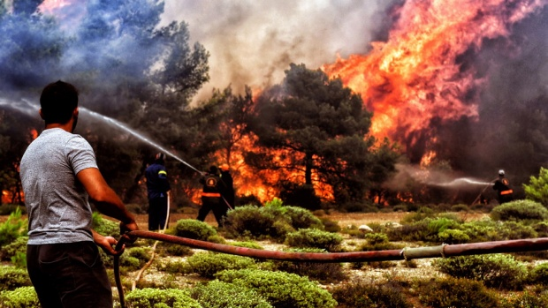 Жертвите на пожарите в Гърция станаха 94 души