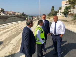 Министър-председателят Бойко Борисов инспектира строителните и ремонтни дейности на инфраструктурни