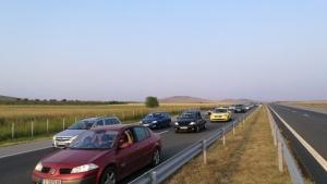 Движението при км 5 в посока София на АМ