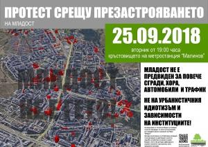"""На25 септември, жителите на столичния район """"Младост"""" се събират на"""