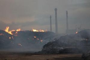Искра от самозапалили се въглища е причината за пожара в