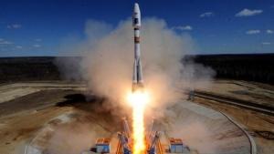 """По време на старта на руския космически кораб Союз"""", който"""