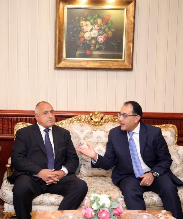 Премиерът Борисов разговаря министъра на жилищното строителство и урбанизацията на  Египет Мустафа Камал Мадбули