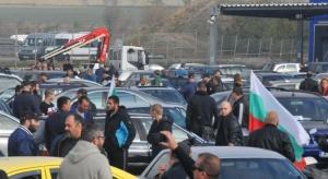 Протестното автошествиев Бургас блокира целия град. Стотици автомобили, които по-рано