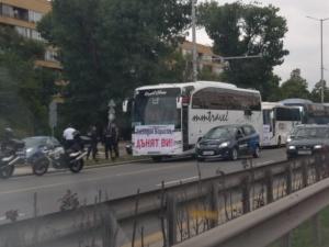 Блокада на главния път Смолян-Пловдив. Десетки жители на Чепеларе спряха