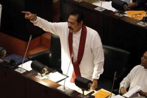 Министър-председателят на Шри Ланка Махинда Раджапакса подаде оставка седем седмици