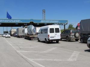 """Снимка: Засилен трафик през """"Маказа"""" и по мостовете над Дунав"""