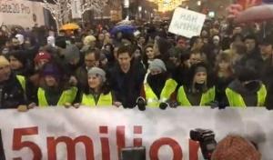 Няколко хиляди души участваха в четвъртото антиправителствено шествие в центъра