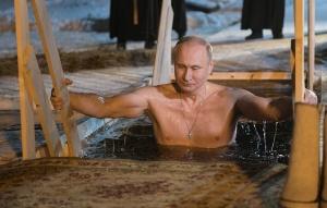Президентът на Русия Владимир Путин участва днес в традиционното къпане