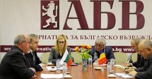 Снимка: Ръководството на ПП АБВ се срещна с посланика на Румъния Н. Пр. Йон Гъля