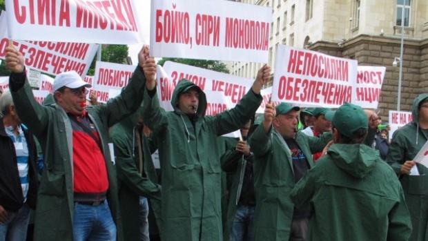 Търговци на горива излязоха на протест в Пловдив