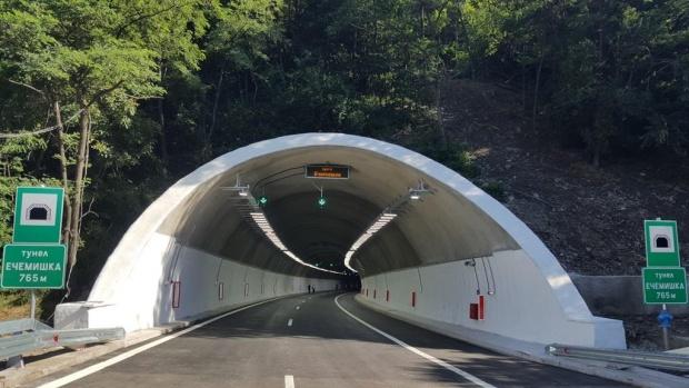 """Промяна в движението в тунел """"Ечемишка"""" на АМ """"Хемус"""""""