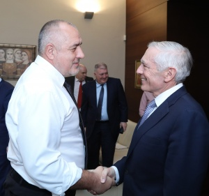 Министър-председателят Бойко Борисов се срещна с ген. Уесли Кларк, бивш