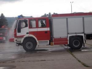 Пожар в стар тютюнев склад в Пловдив. Около 10.00 часа