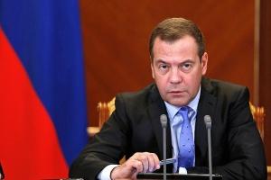 Премиерът на Русия Дмитрий Медведев пристига на двудневно официално посещение