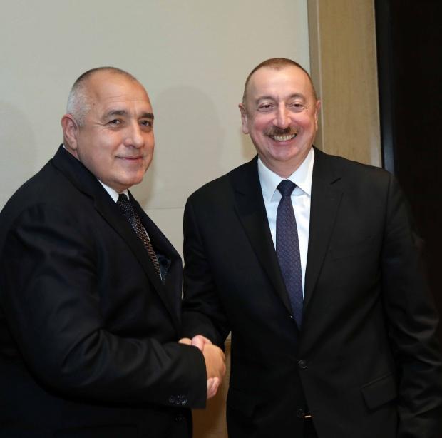 Борисов и президентът на Азербайджан Илхам Алиев обсъдиха енергийното сътрудничество