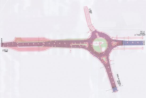 Започва изграждането на кръгово кръстовище на Подбалканския път  I-6, при входа на Карлово