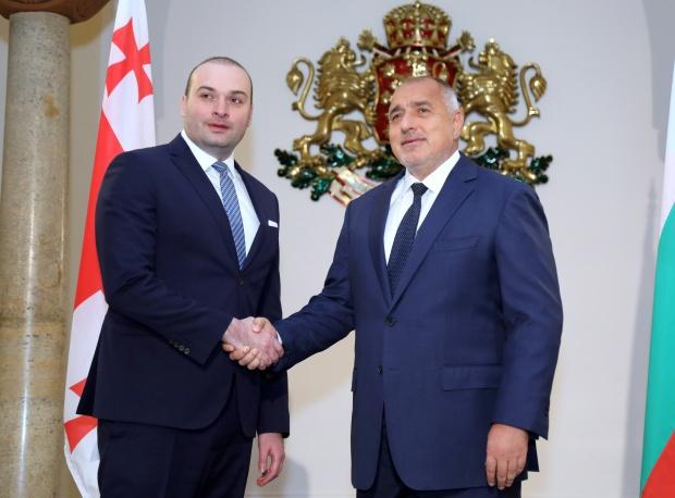 Започна срещата на министър-председателя Бойко Борисов с премиера на Грузия Мамука Бахтадзе