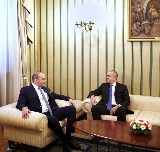 Румен Радев и министър-председателят на Грузия Мамука Бахтадзе обсъдиха двустранния икономически обмен