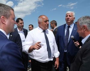 Премиерът Бойко Борисов инспектора началото на строителните работи по изграждането