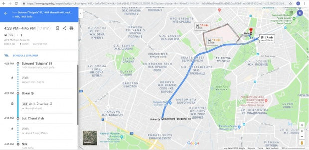 Google Maps помага да се движим с градски транспорт вече и в София