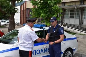 Старши комисар Димитър Величков връчи днес ключовете на новите служебни