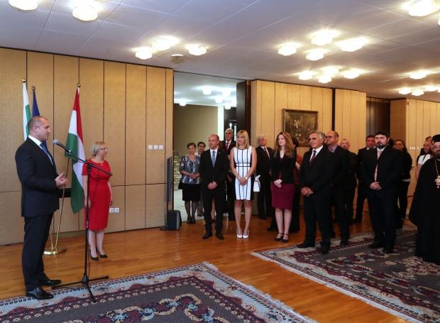Радев: С активната си обществена позиция вие сте живата връзка между България и Унгария