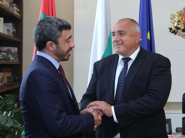 Борисов се срещна с министъра на външните работи и международното сътрудничество на ОАЕ шейх Абдула бин Зайед бин Султан Ал Нахаян