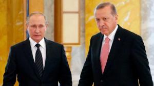 Президентите на Турция и Русия Реджеп Тайип Ердоган и Владимир