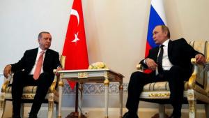 Преговорите на руския президент Владимир Путин и неговия турски колега