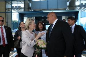 Министър-председателят Бойко Борисов посрещна новоизбрания председател на Европейската комисия Урсула