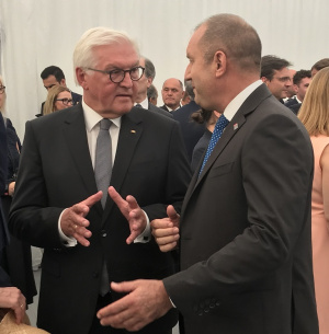 Държавният глава Румен Радев разговаря с президента на Федерална република